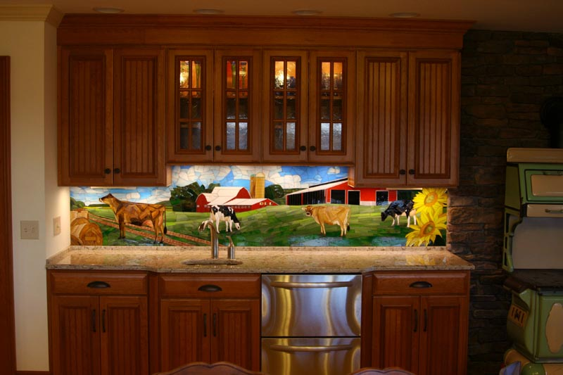 Design Inspired By Images Stained Gl Mosaic Backsplash Installed In A Dairy Farm Pennsylvania